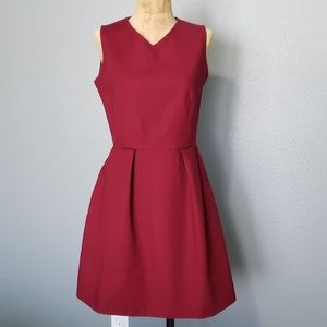 GAP burgundy sleeves dress